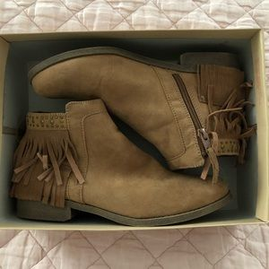 Mossimo Tan Suede Booties